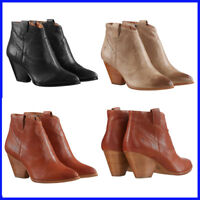 Frye Women's Reina  Leather Western Ankle Bootie PICK SIZE&COLOR, NEW