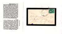 LAKE DELAWARE NY,1882 MOURNING COVER SENT TO ELBRIDGE GERRY,SON OF STATESMAN
