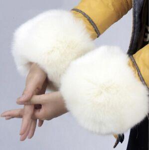 New Winter Short Hairy Women Arm Warmers Fashion Sleeve Ladies Cute Accessories