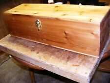 Large Cedar Feather Box 30 x 10 x 10 inch with latch - Made in Oregon, USA