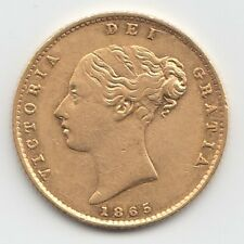 More details for 1865 queen victoria gold half sovereign