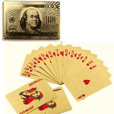 54pcs Gold Foil Poker Playing Cards Waterproof 24K Table Cards Plated Cover Game