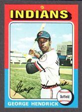 1975 TOPPS LARGE #109  George Hendrick  CLEVELAND INDIANS  EX-MINT+   B