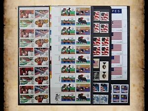 US Postage Stamps Face Value $42+ Unused Lot #100 Sheets Blocks Mixed 55c Combos