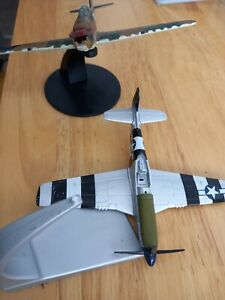 2 X CORGI AIRPLANES MUSTANG AND HURRICANE FOR SPARES OR REPAIRS PRE-OWNED