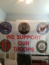 New listing We Support Our Troops Flag 3x5 ft Seals Us Army Navy Air Force Marines Coast Gd