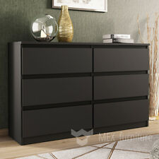 Modern Black Chest Of Drawers 6 Bedroom Furniture Cabinet Sideboard