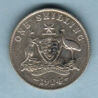 Australia.  1924 Shilling..  aVF