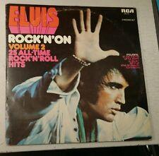 1974 ELVIS DOUBLE ALBUM ' ROCK 'N' ON VOL.2 ' RCA BUFF LABEL CAT.No.TSP 141