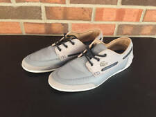 Lacoste Mens Misano Boat Shoes Blue Gray Leather Size 8