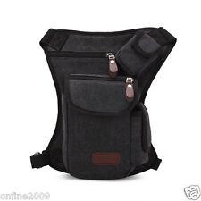 Man Multifunction Outdoor Sport Leg Bag Canvas Waist Bag Money Belt Fanny Pack