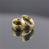 Lord of the Rings Stainless Steel The One Ring Bilbo's Hobbit Gold Ring XJ