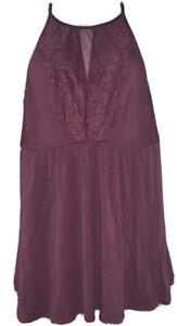 Soma Large Burgundy Camisole Teddy Intimates Sleepwear