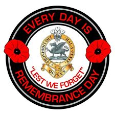 The Queens Regiment Remembrance Day Inside Car Window Clear Cling Sticker