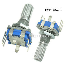 2PCS EC11 Rotary Encoder Audio Digital Potentiometer with Switch Handle 20mm