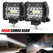 "4""480W LED Barra De Luz Trabajo Spot Flood Foco 4x4 4WD Light Bar Camión Lámpara"