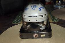 Penguins Autograph Mini Helmet Crosby - Fleury - Staal - Talbot + Sykora