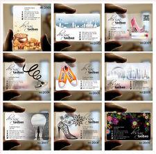 500pcs Transparent plastic Business Card PVC Frosted Print free design 05