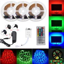 49.2ft 32.8ft RGB 3528 LED Strip Light SMD 44Key Remote 12V Power Kit