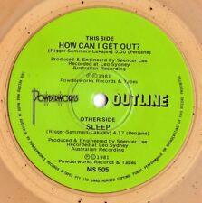 Outline ORIG OZ Lemonade coloured 45 How can I get out? EX 81 New wave Post Punk