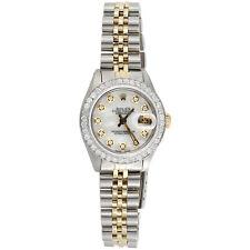 Womens Rolex Diamond Watch MOP Dial 6917 Datejust 18K/ Steel Jubilee Band 1 CT.