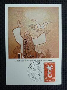 ITALIEN MK 1958 EUROPA CEPT TAUBE PIGEON MAXIMUMKARTE MAXIMUM CARD MC CM c3451