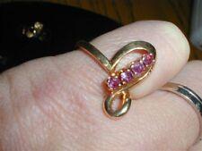 Vintage 14kt Genuine Ruby Ring-Modern design-Size 6.25,3.4 grams