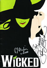 Stephanie J. Block SIGNED Wicked Program Elphaba COA