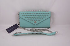 Rebecca Minkoff Wallet on a Chain with Studs Minty with Silver Hardware NEW