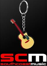 ACOUSTIC GUITAR KEY RING CHAIN GIFT FOR GUITARISTS KEYRING KEYCHAIN NEW GIFTWARE