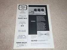 QUAD 33 Preamp Ad, 1971, Rare Ad, Article, 1 page