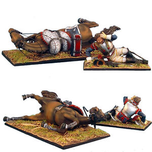 NAP0249 French 5th Cuirassier Dazed Trooper and Downed Horse by First Legion