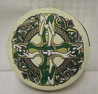 "IRELAND Irish MUSIC 12"" Celtic Cross Bodhran Drum Beater DVD 3Items"