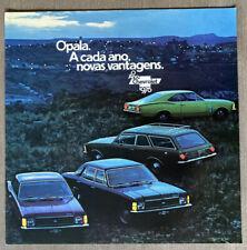 1975 Chevrolet Opala original Brazilian sales brochure