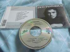 Jaco Pistorius auto-titulado CD ÁLBUM 9 Pistas Épico EE.UU. EK 33949 Donna Lee