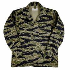 Vietnam War US Army Tiger Stripe Camo TCU Tops Jacket Cotton Size L