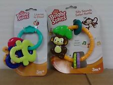 Bright Starts Silly Sounds Safari Rattle + License To Drool combo pack 3 months