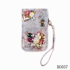 Crystal Accessories Pu Leather Colorful Hot Sale Women Telephone Bag Case Wallet