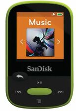 SanDisk Clip Sport 8GB MP3 Player, Lime With LCD Screen and MicroSDHC Card Slot