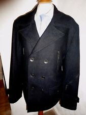 NEW MENS 42 FERAUD GREY ITALIAN WOOL WARM WINTER DB COVERT CROMBIE OVERCOAT COAT