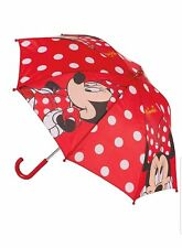 Disney Minnie Mouse Red Kids Childrens Dome Umbrella Rain Brolly Back To School