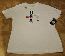 Nike USA Athletic Cut Dri-Fit T-Shirt Men's XXL White Brand New