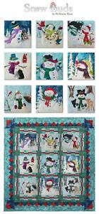 McKenna Ryan, Snow Buds Series, 9 Laser Cut Quit Kits Embellishments DIY Snowman