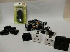 Panel Mount 120 Vac Sockets Huge Lot Nos and Used