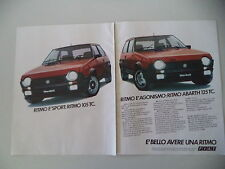 advertising Pubblicità 1982 FIAT RITMO 105 TC/ABARTH 125 TC