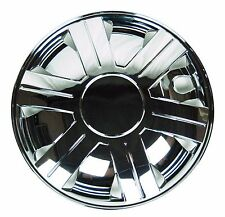 "Chrome 15"" Hub Caps Full Wheel Rim Covers w/Steel Clips (Set of 4) - KT-1007-15"
