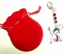 Betty Boop Kicking ROBE ROUGE & Garter Sac Charme St-Valentin Ou Anniversaire Cadeau