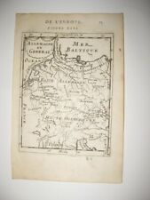 EARLY ANTIQUE 1683 GERMANY COPPERPLATE MALLET MAP POLAND HUNGARY AUSTRIA FINE