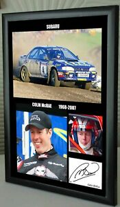 """Colin McRae Tribute  Framed Canvas Signed Print """"Great Gift"""""""