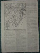 1926 MAP ~ CENTRAL RAILROAD of NEW JERSEY NEW YORK BROOKLYN PHILADELPHIA
